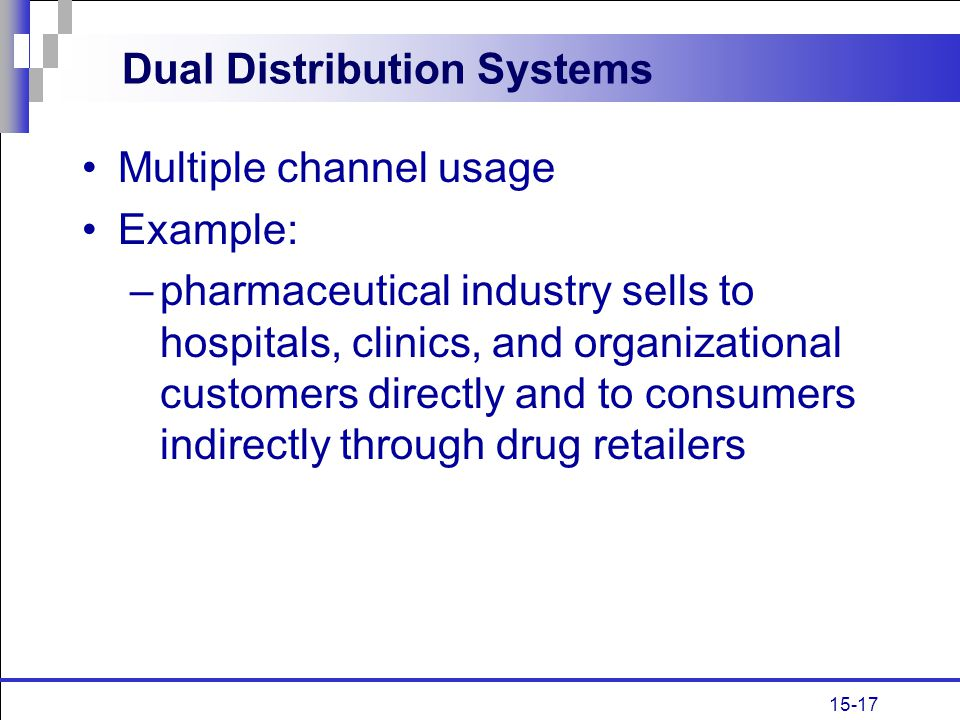 Dual Distribution Systems