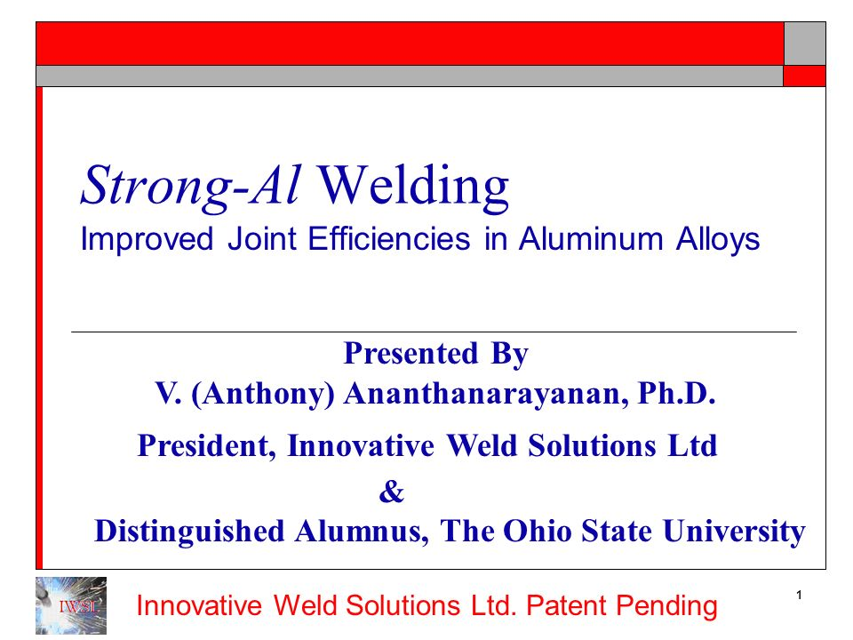 Improved Joint Efficiencies in Aluminum Alloys