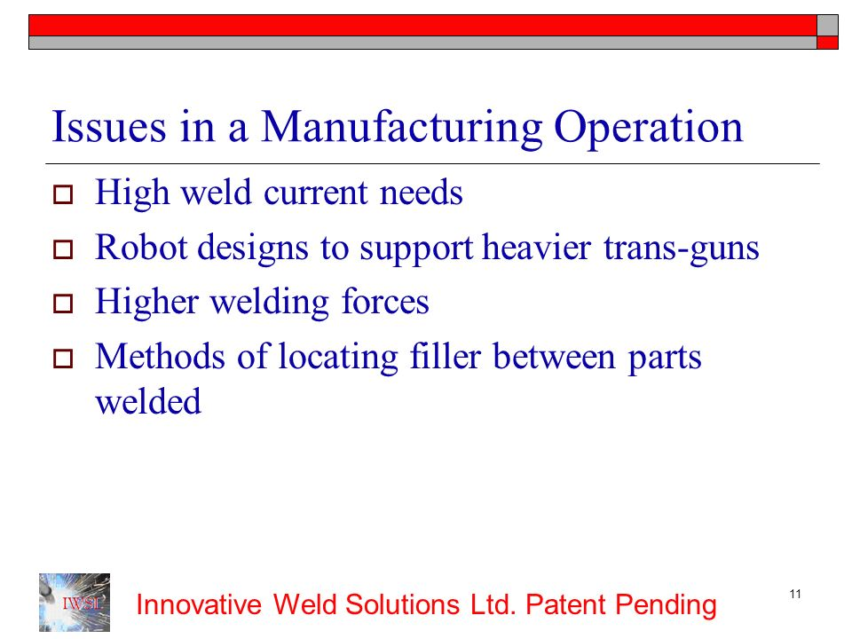 Issues in a Manufacturing Operation