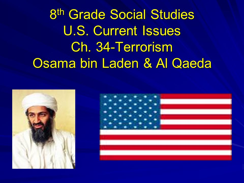 8th Grade Social Studies U. S. Current Issues Ch