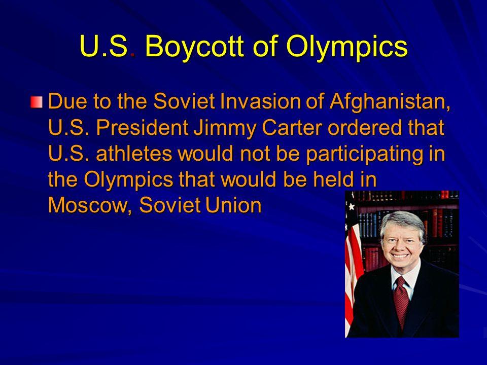 U.S. Boycott of Olympics