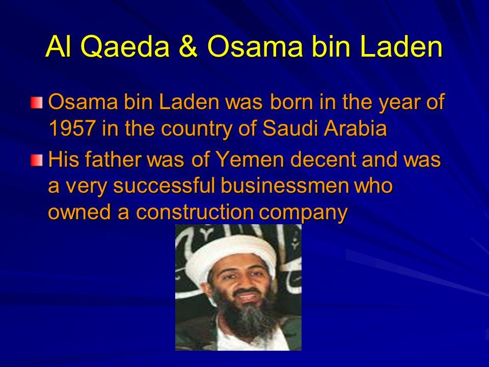 Al Qaeda & Osama bin Laden