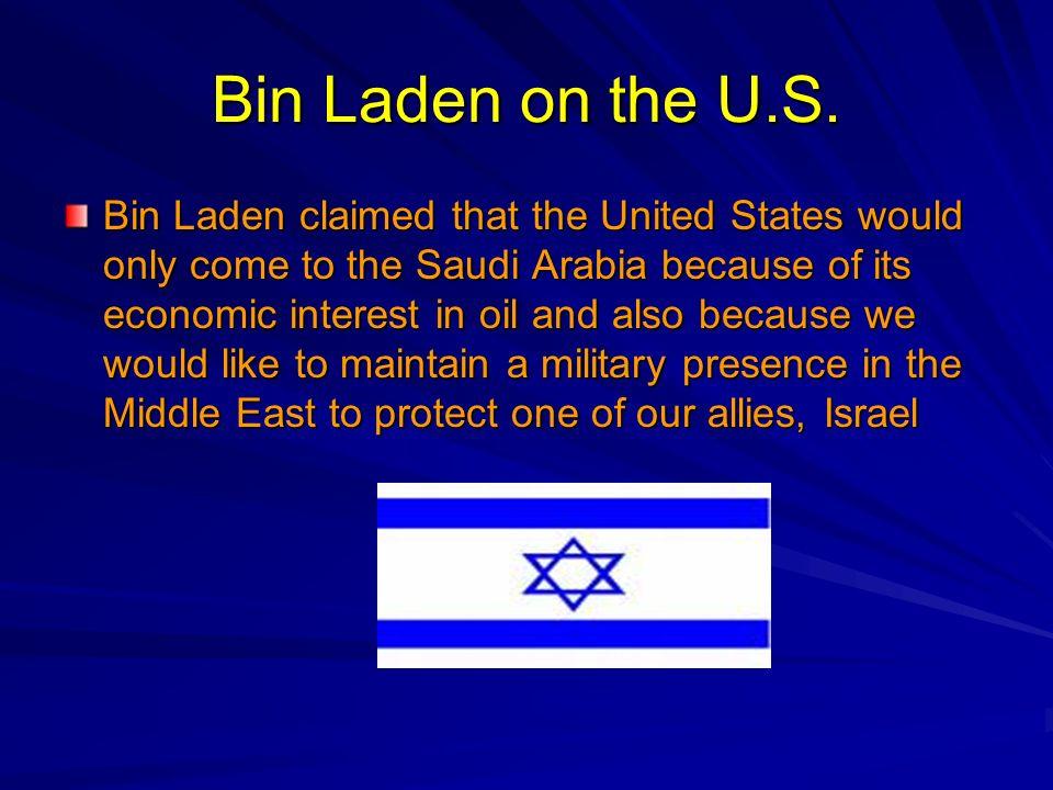 Bin Laden on the U.S.