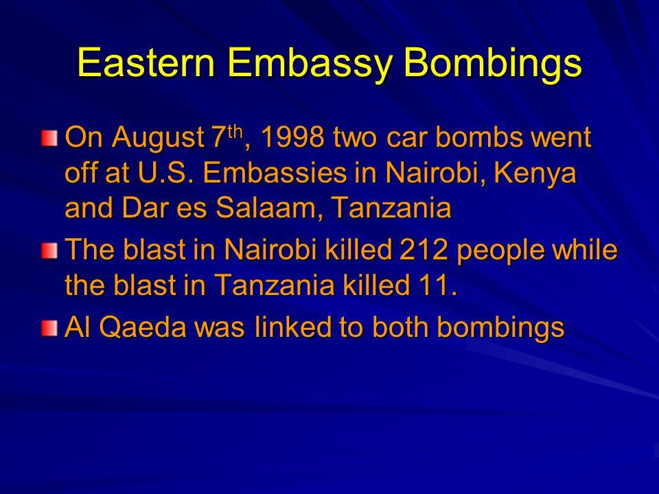 Eastern Embassy Bombings