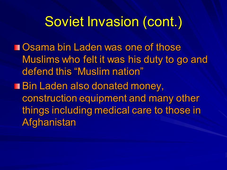 Soviet Invasion (cont.)