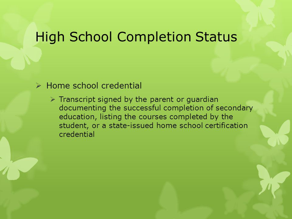 High School Completion Status