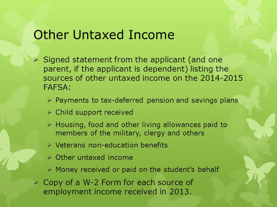 Other Untaxed Income