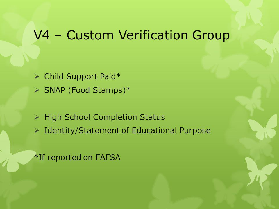 V4 – Custom Verification Group