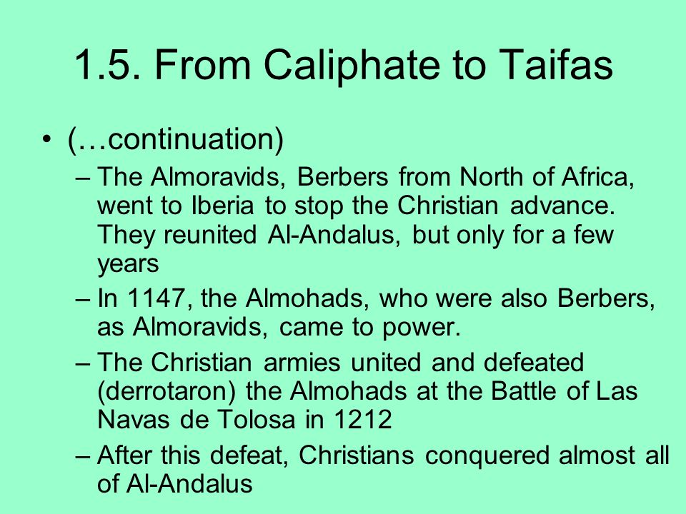 1.5. From Caliphate to Taifas