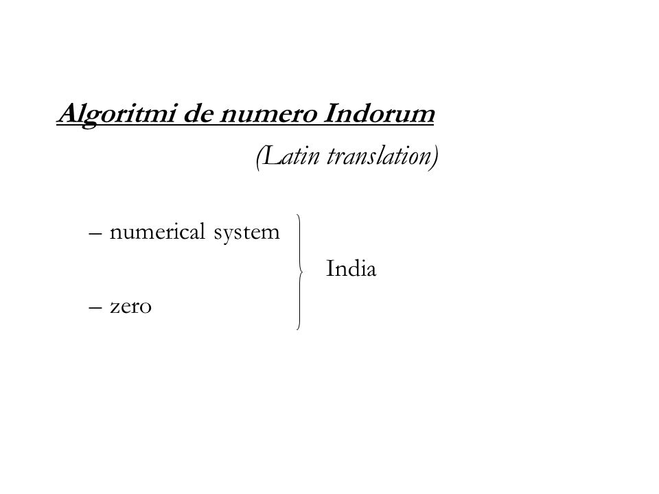 Algoritmi de numero Indorum (Latin translation)