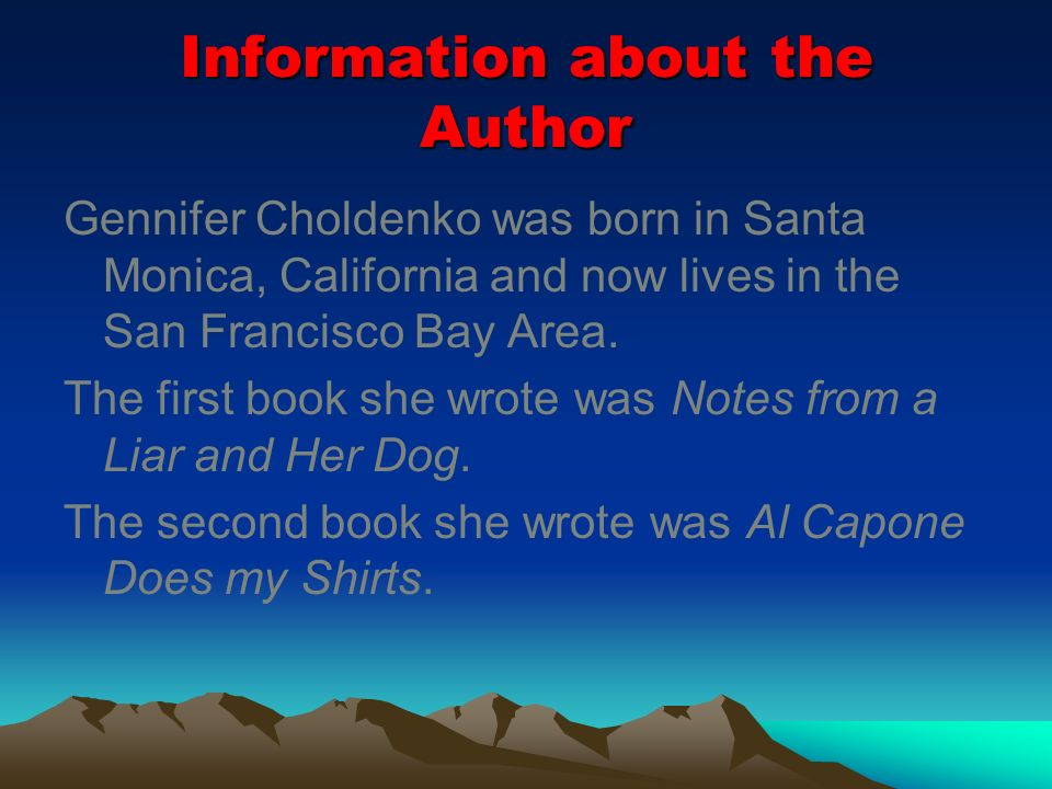 Information about the Author