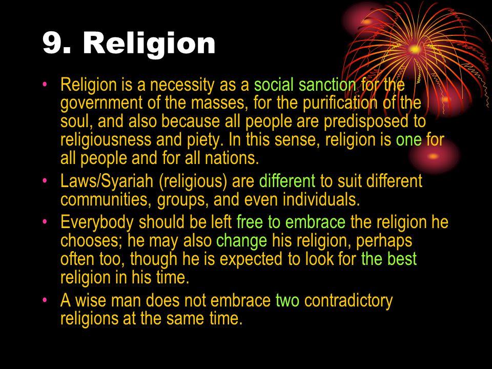 9. Religion
