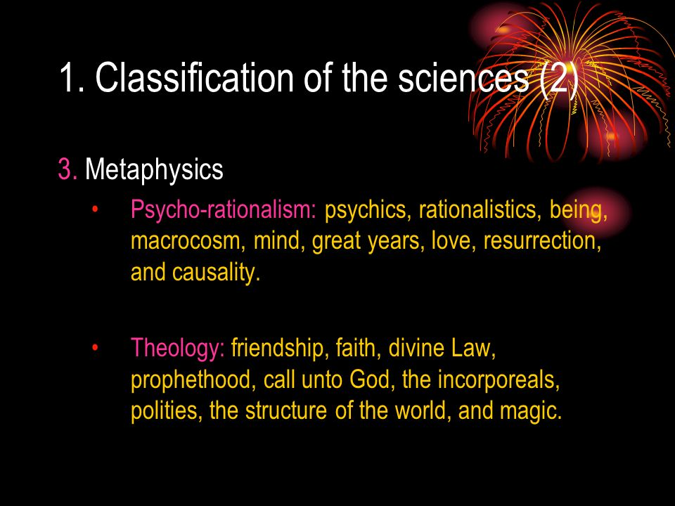 1. Classification of the sciences (2)