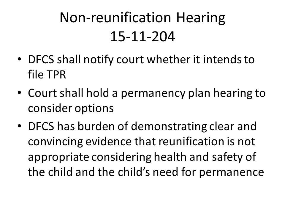 Non-reunification Hearing 15-11-204