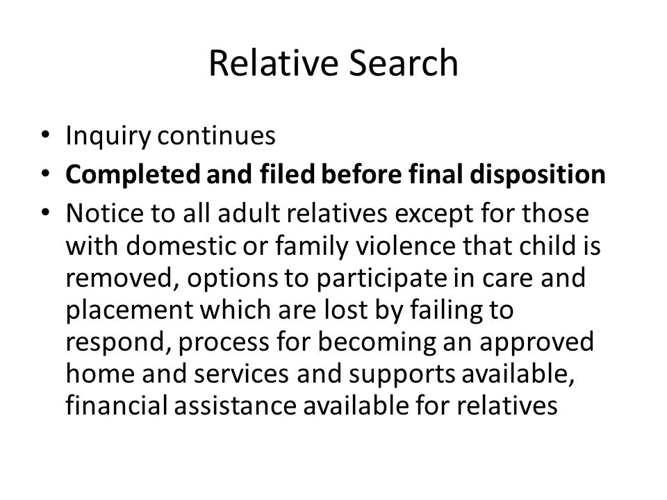 Relative Search Inquiry continues