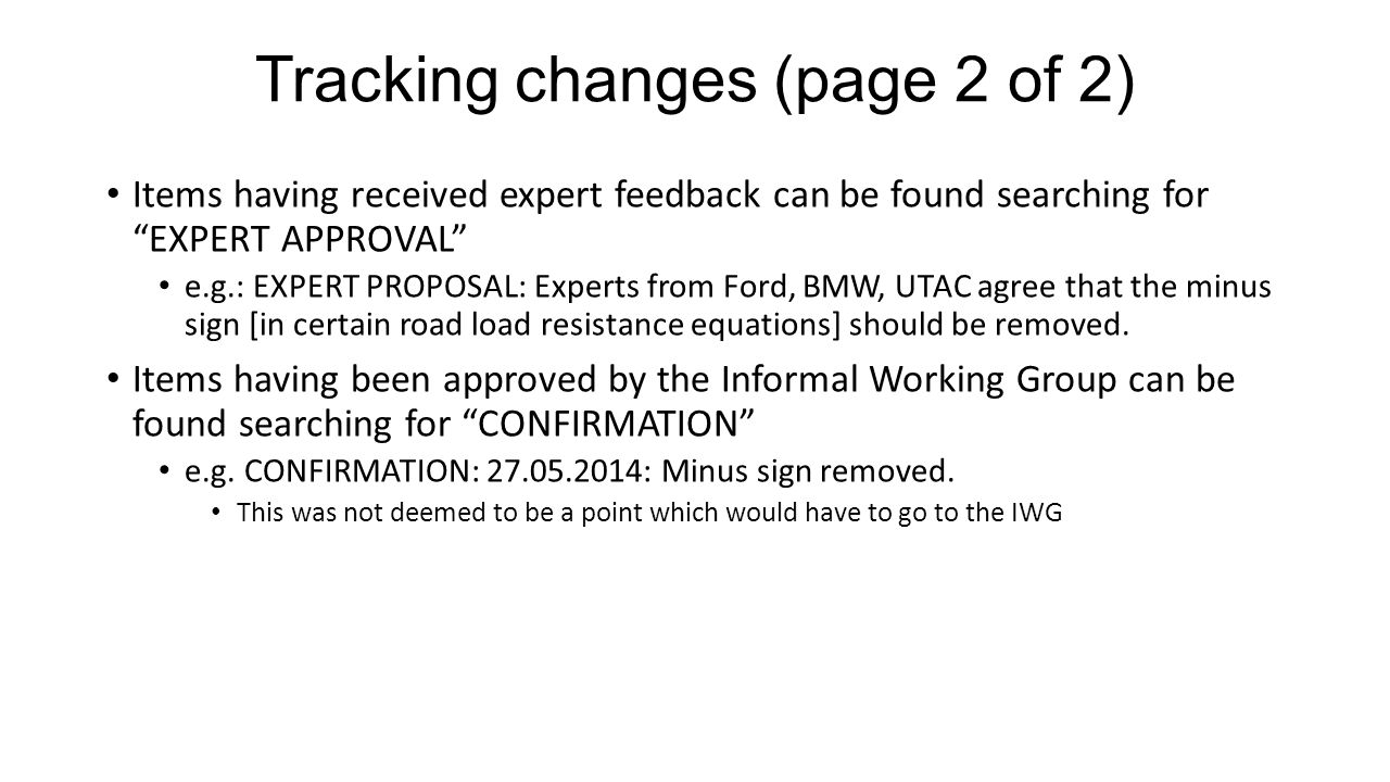 Tracking changes (page 2 of 2)