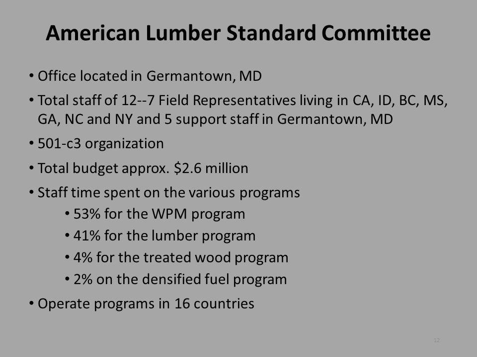 American Lumber Standard Committee