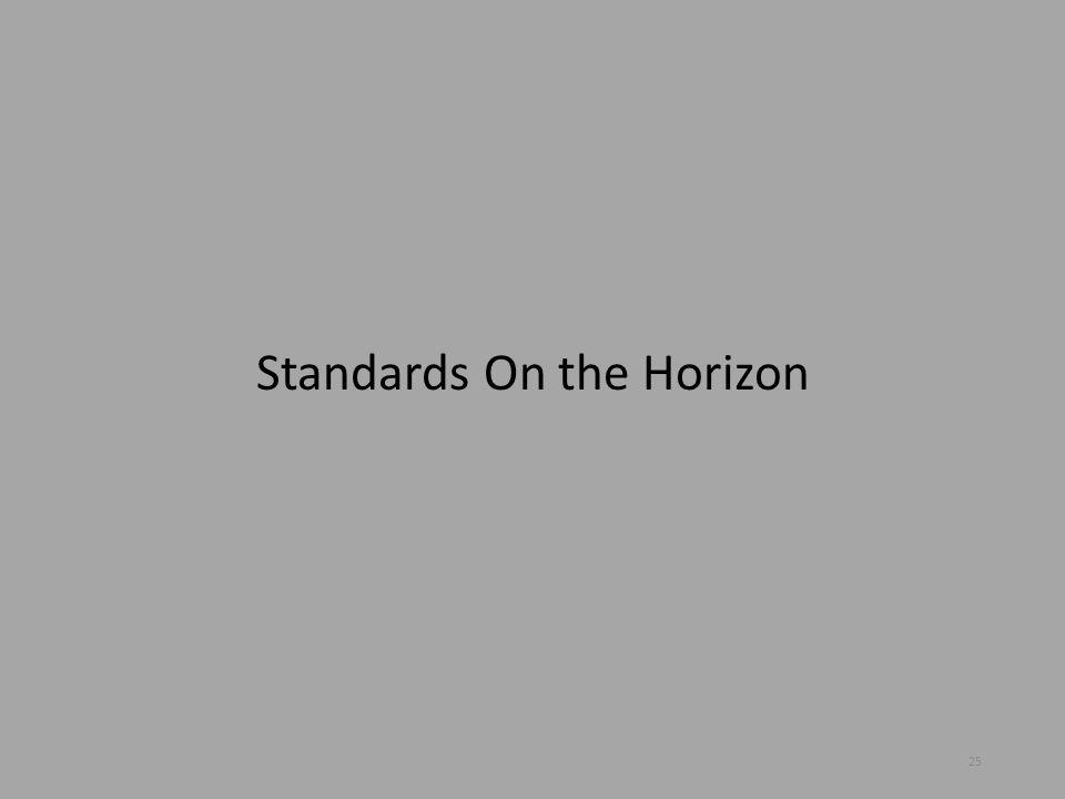 Standards On the Horizon