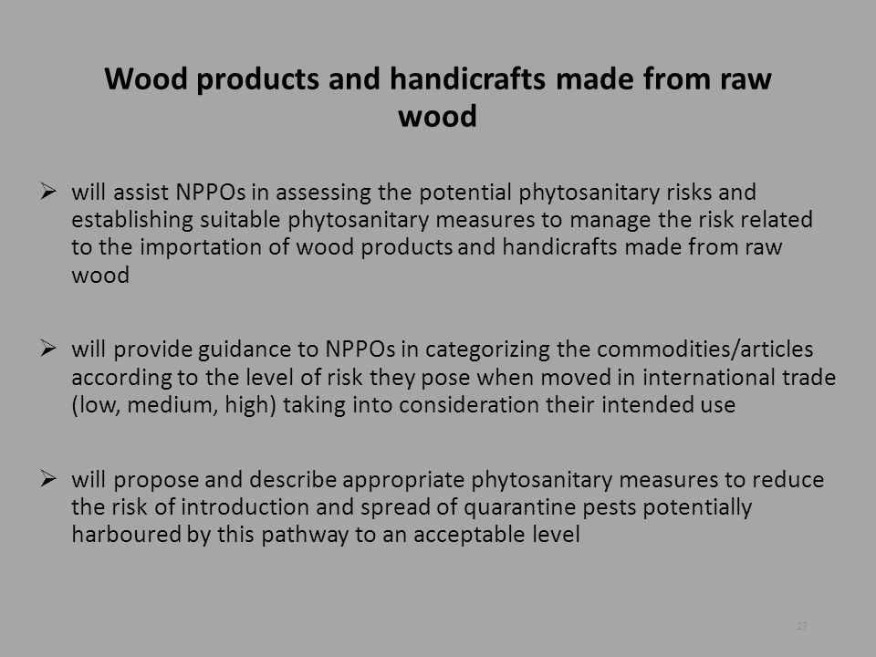 Wood products and handicrafts made from raw wood