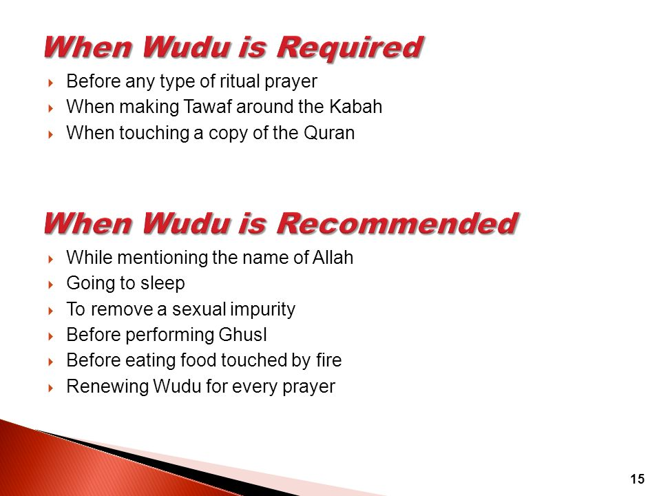 When Wudu is Recommended