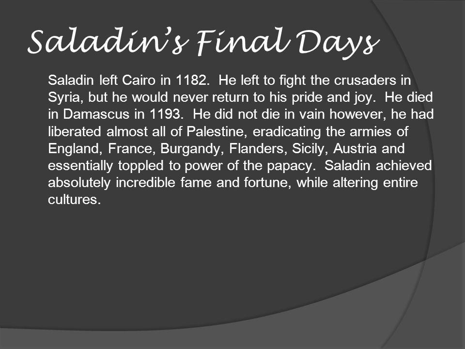 Saladin's Final Days