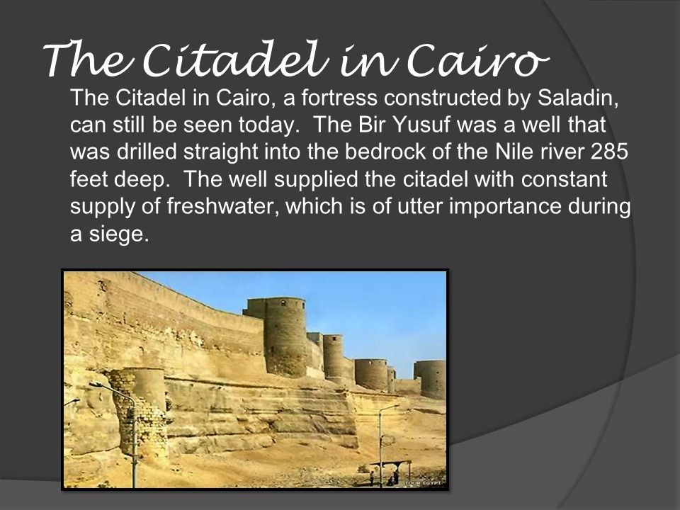 The Citadel in Cairo