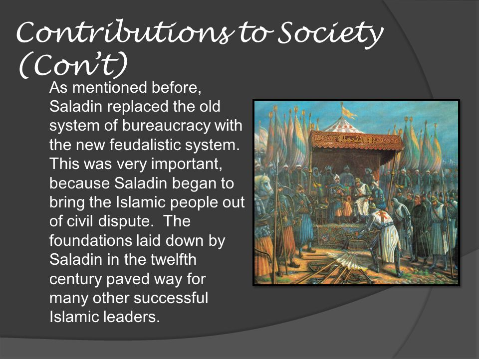 Contributions to Society (Con't)