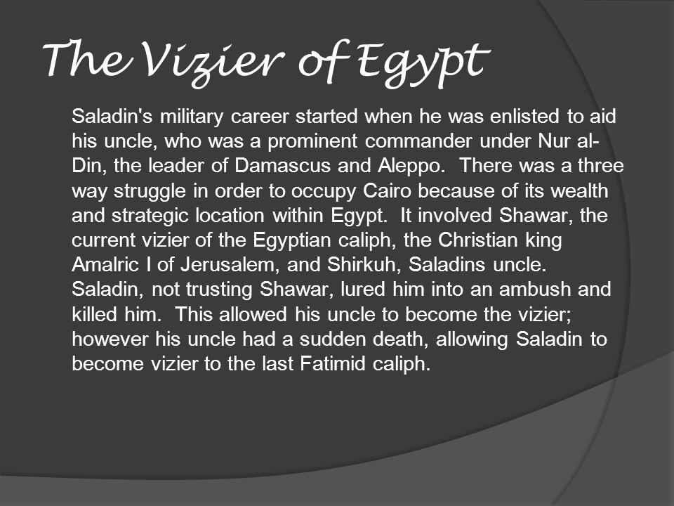 The Vizier of Egypt