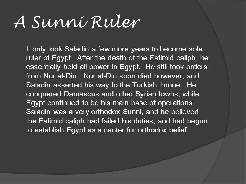 A Sunni Ruler