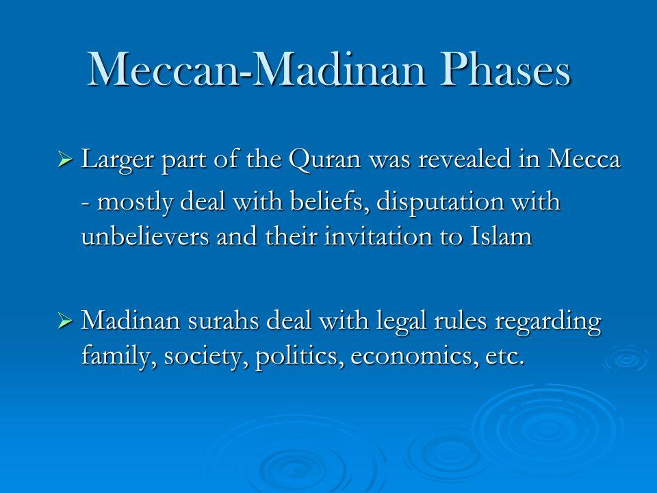 Meccan-Madinan Phases
