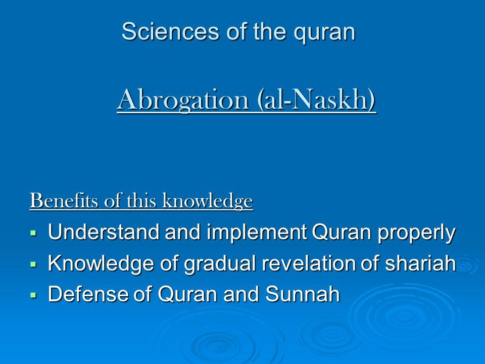 Abrogation (al-Naskh)