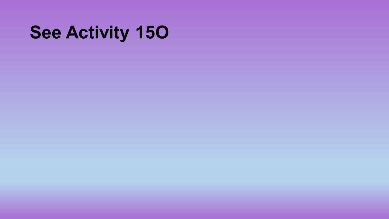 See Activity 15O