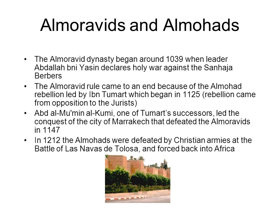 Almoravids and Almohads