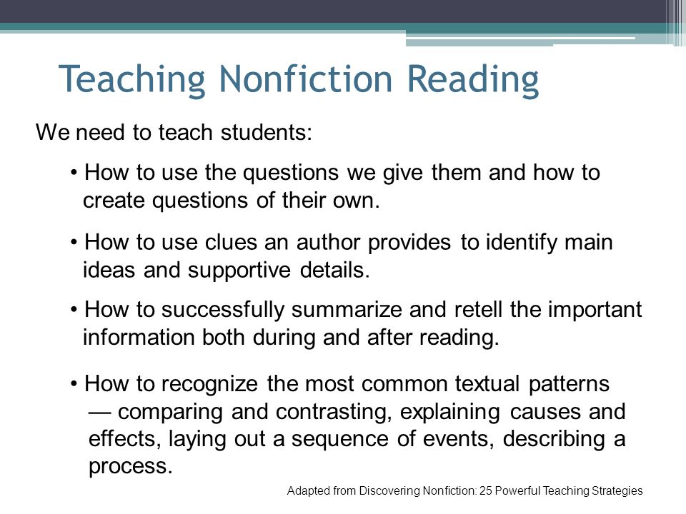 Teaching Nonfiction Reading