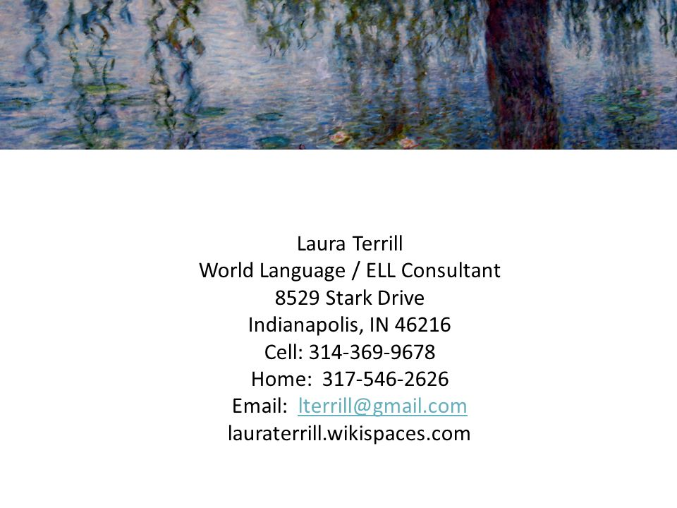 World Language / ELL Consultant