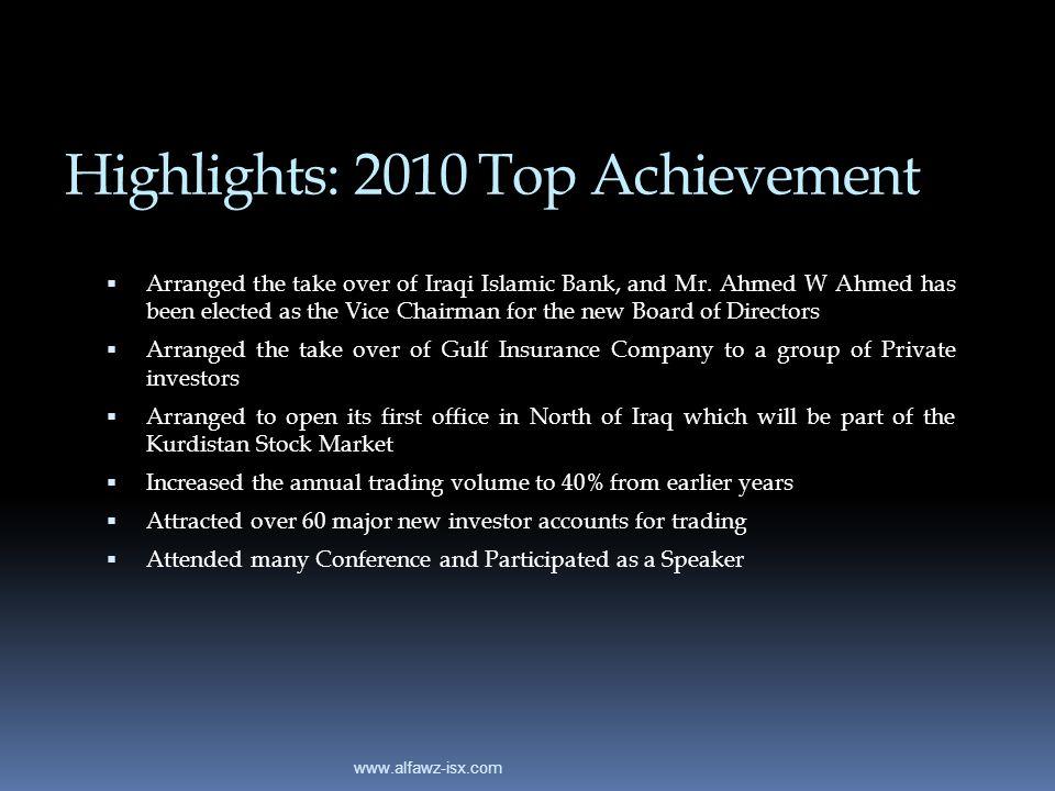 Highlights: 2010 Top Achievement