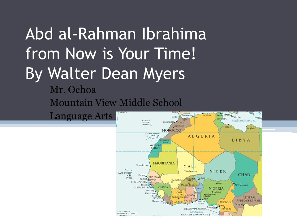 Abd al-Rahman Ibrahima from Now is Your Time! By Walter Dean Myers