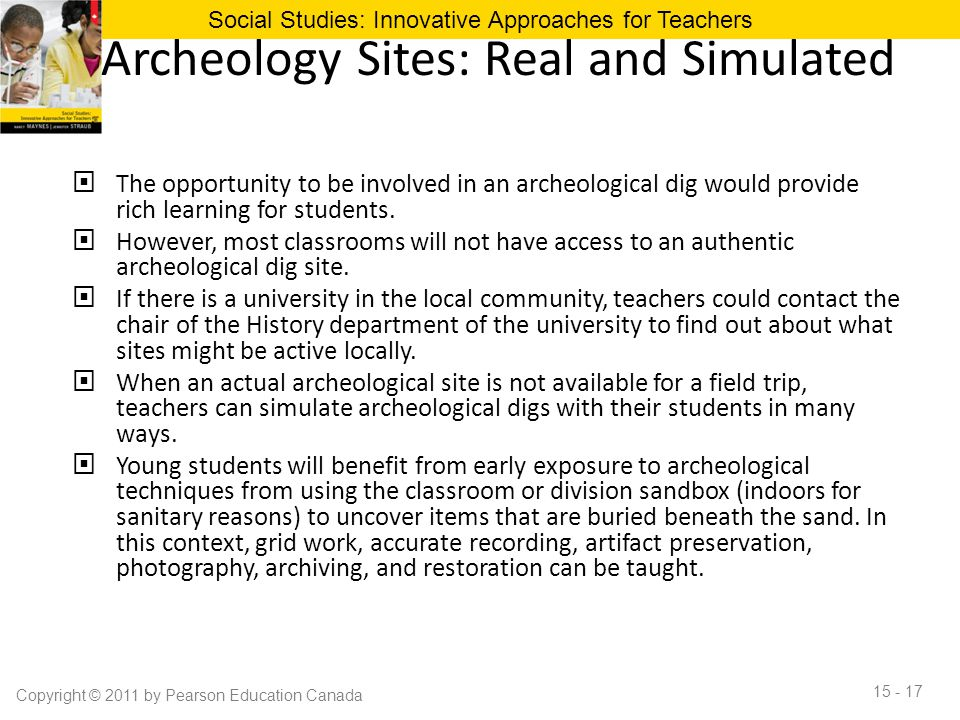 Archeology Sites: Real and Simulated