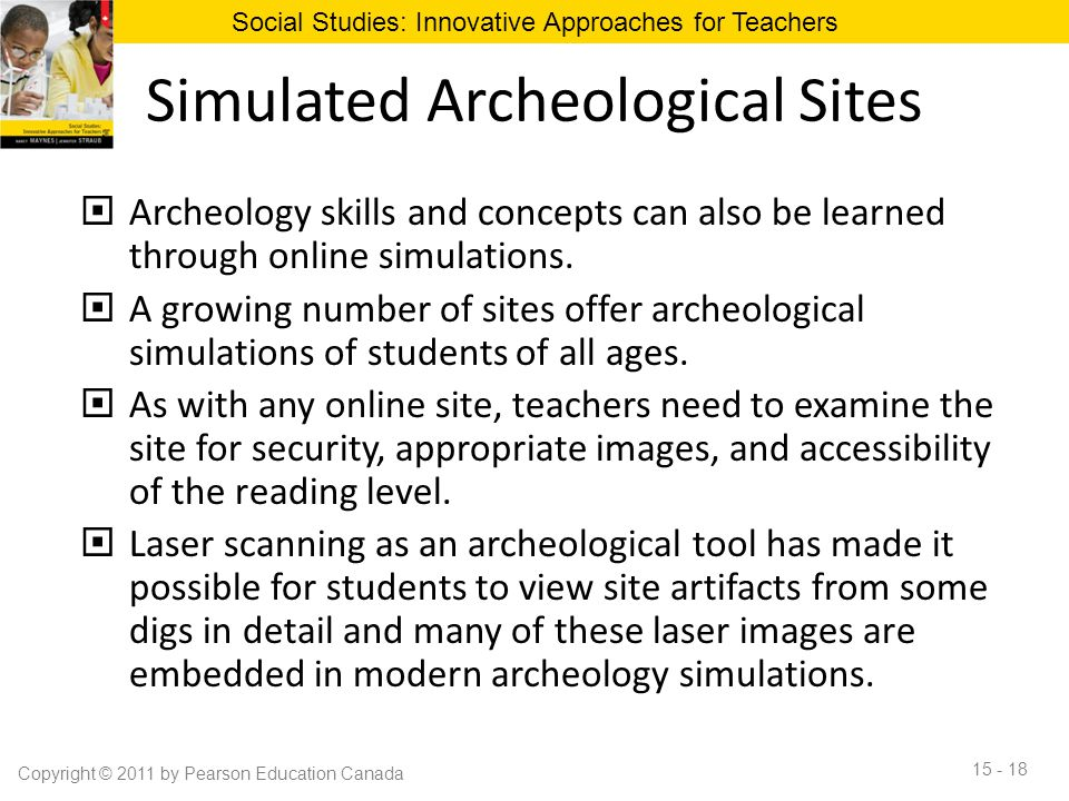 Simulated Archeological Sites