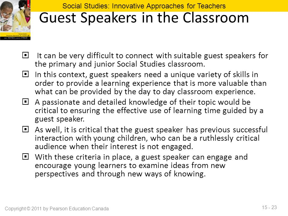 Guest Speakers in the Classroom