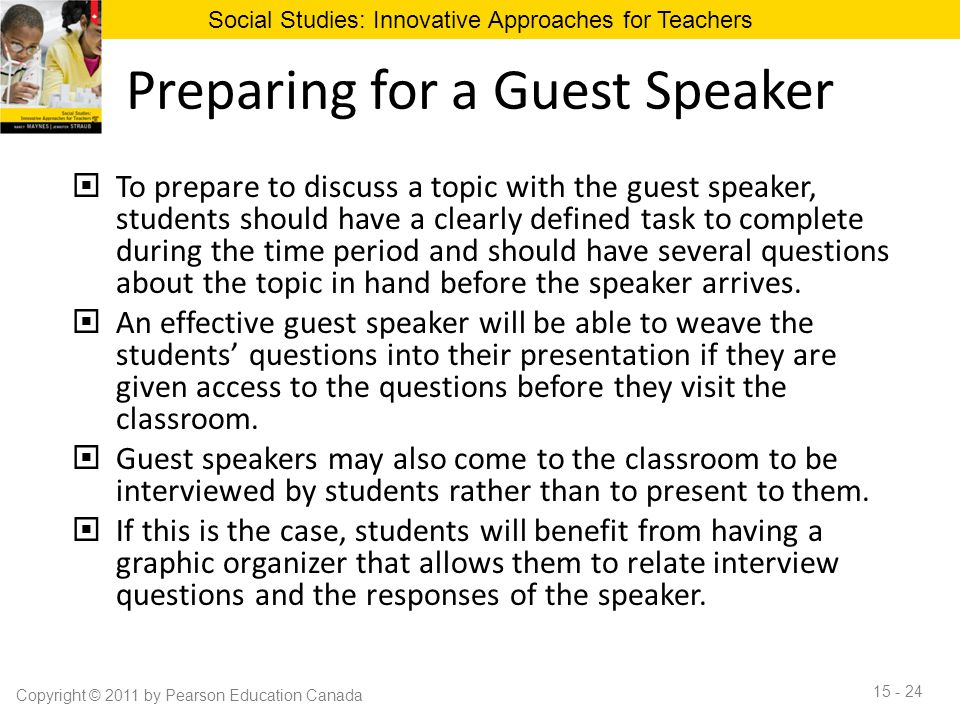 Preparing for a Guest Speaker