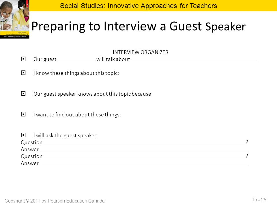 Preparing to Interview a Guest Speaker