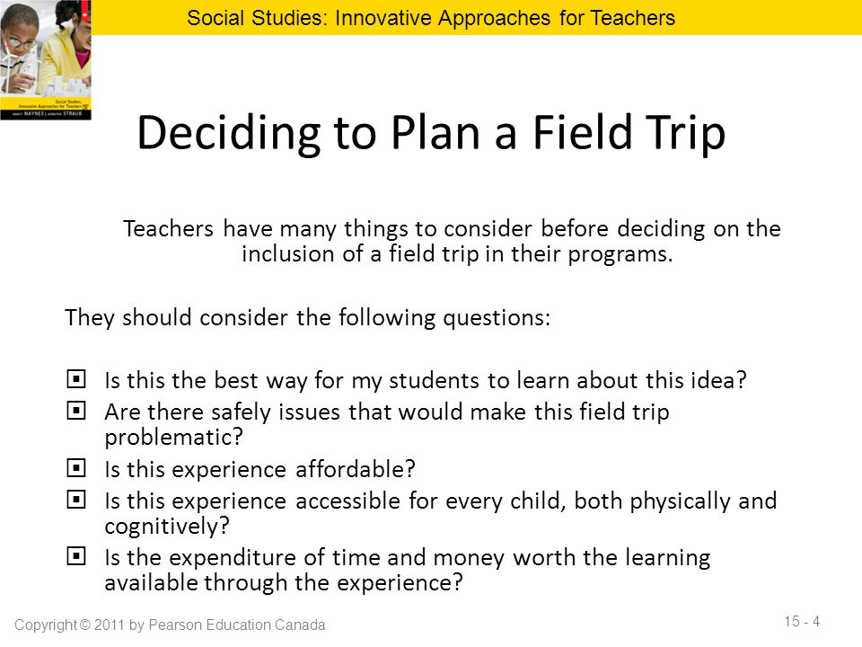 Deciding to Plan a Field Trip