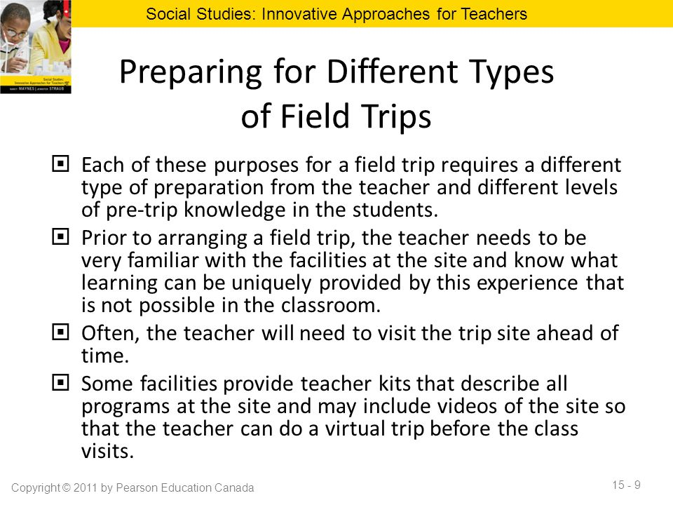 Preparing for Different Types of Field Trips