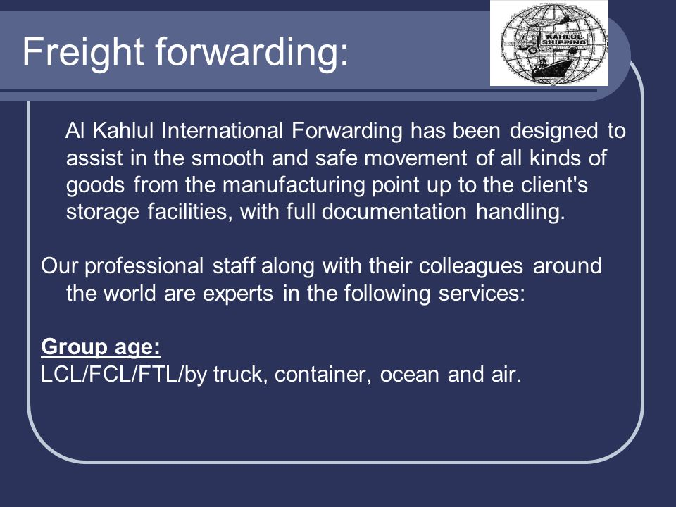 Freight forwarding: