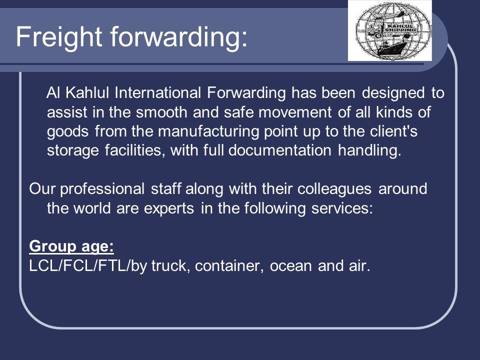 Freight forwarding: