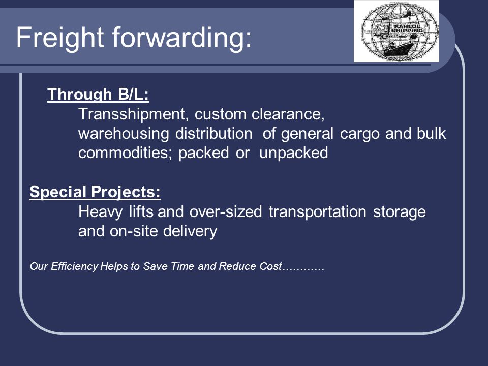 Freight forwarding: Through B/L: