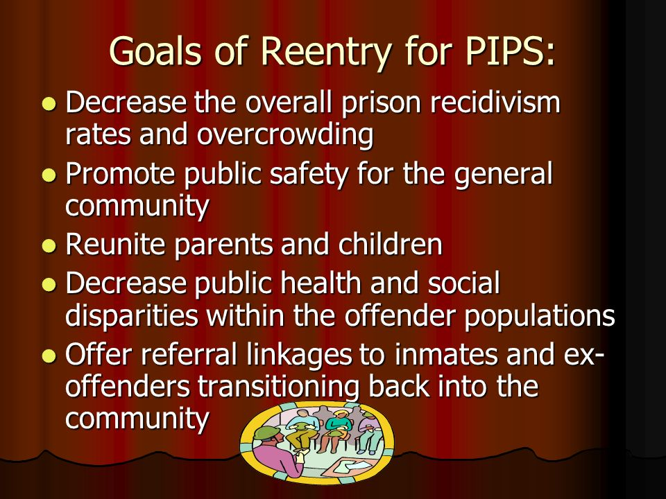 Goals of Reentry for PIPS: