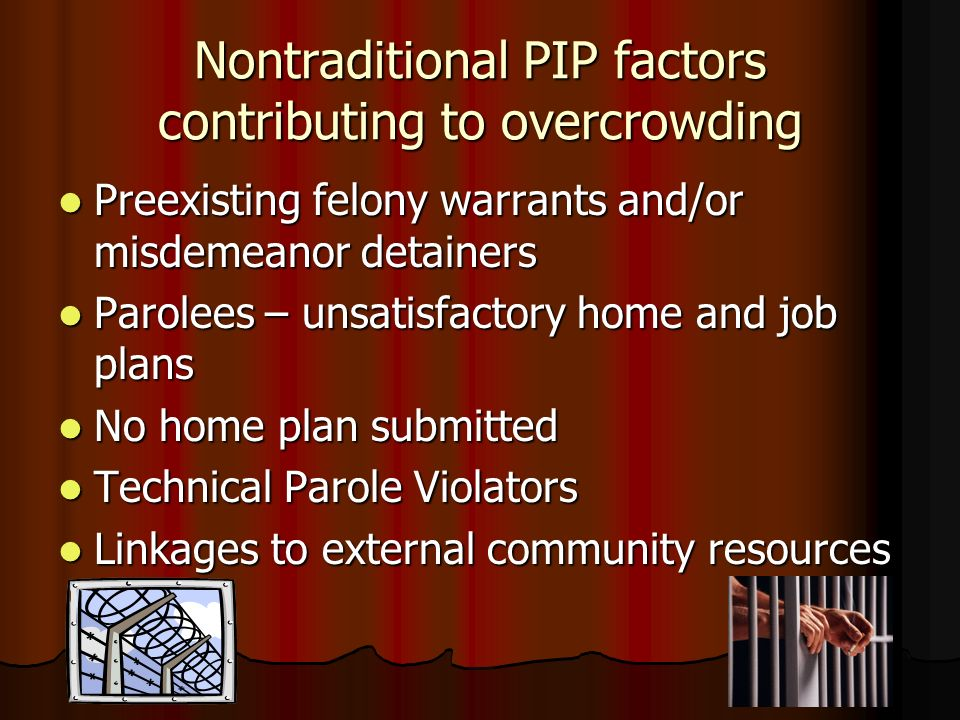 Nontraditional PIP factors contributing to overcrowding
