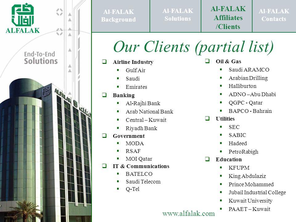 Al-FALAK Affiliates /Clients